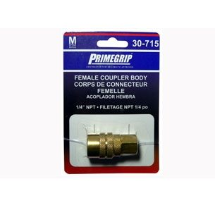 "Primegrip 1/4 inch Female Coupler Body ""M"" Style"
