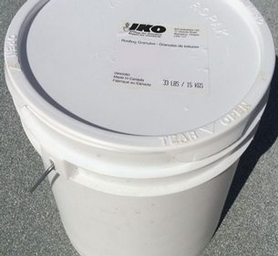 IKO Armourcool White Roofing Granules - 15 kilogram Pail