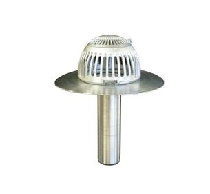 Flash-Tite™ Flip-Top Roof Drain - 6 inch New Construction Aluminum