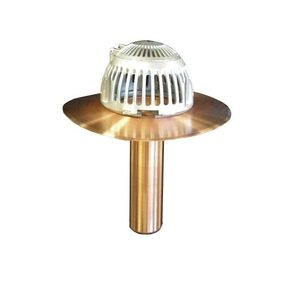 Flash-Tite™ Flip-Top Roof Drain - 4 inch New Construction Copper