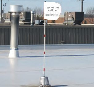 Flag-it Roof Top Monitoring System - Custom or Personalized Flag