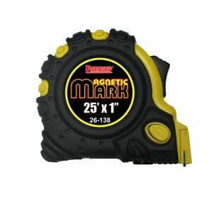 Primegrip Measuring Tape - 25 feet by 1 inch with fractions