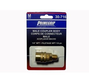 "Primegrip 1/4 inch Male Coupler Body ""M"" Style"