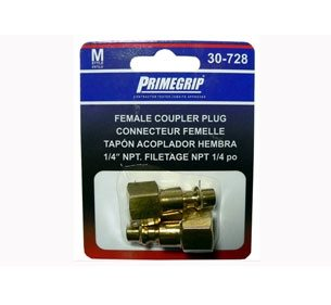 Primegrip 1/4 inch Female Coupler Plug - 2 pack