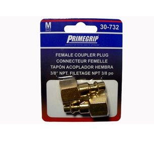 Primegrip 3/8 inch Female Coupler Plug – 2 pack