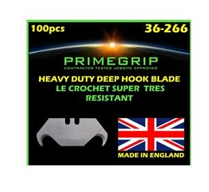 Primegrip Deep Hook Blades – 2 Notch, 100 per pack