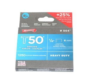 Arrow T50 Staples - 1/4 inch (1250 per pack)