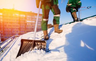 Roofing Worker Winter Safety